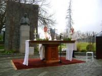 Durante la Misa que se celebró en la plaza