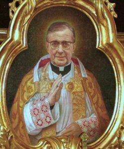 Imagen de san Josemaría Escrivá situada en Peterskirche, Viena.