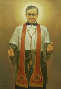 Imagen de san Josemaría en la iglesia de la Virgen de la Medalla Milagrosa.