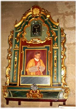 Imagen de san Josemaría en la iglesia de San Nicolás en la ciudad de Córdoba