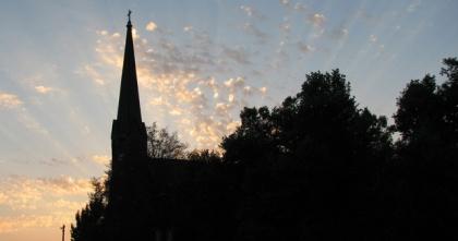 La iglesia de St. Mark, en el atardecer